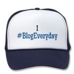 I #BlogEveryday Blue Trucker Hat