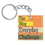 The Blog Everyday Challenge Keychain